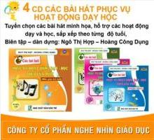 4 CD các bài hát phục vụ họat động dạy học