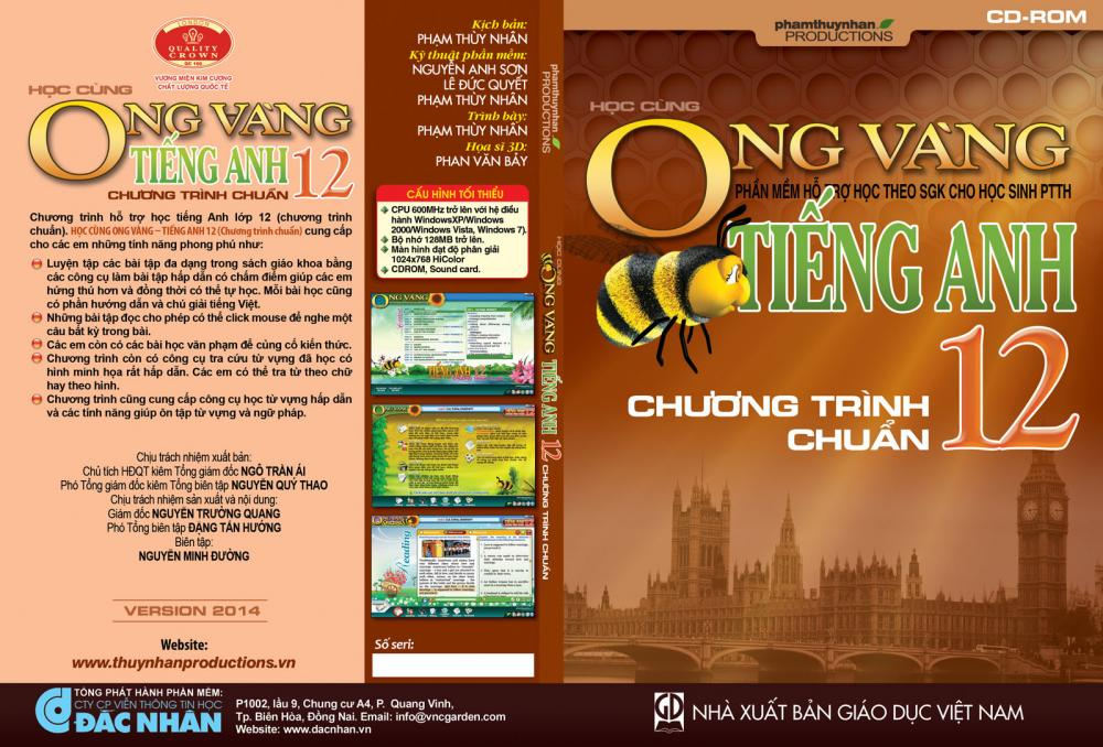 Phần mềm Ong Vàng - Tiếng Anh 12