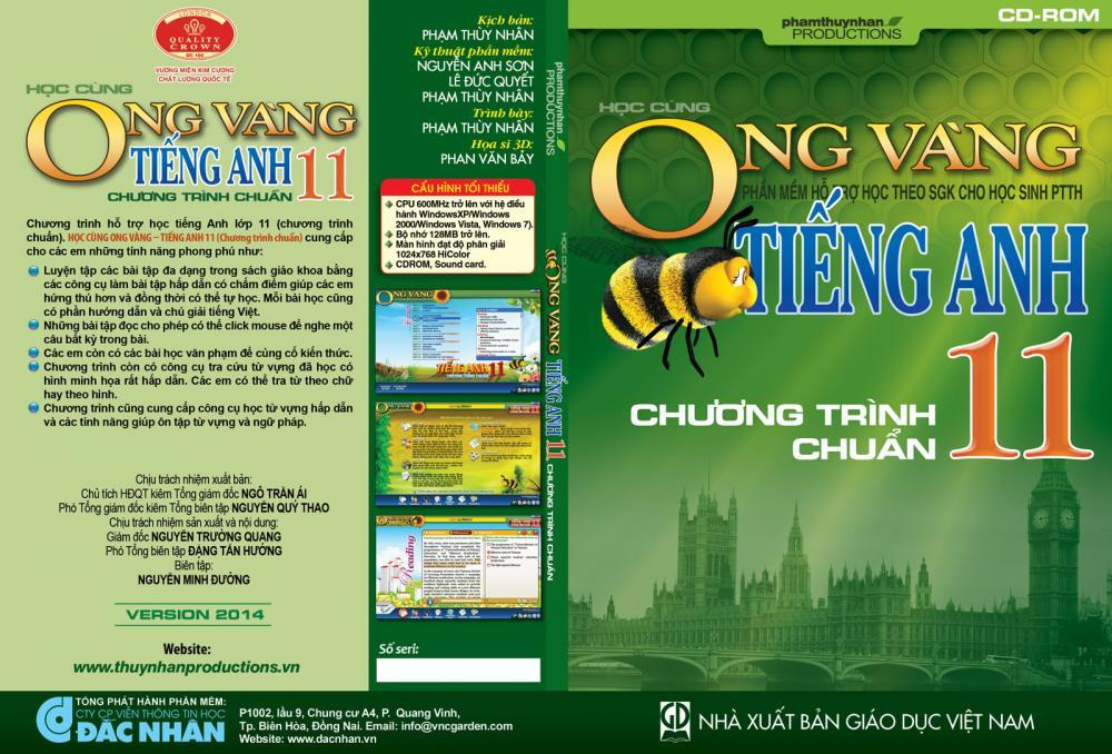 Phần mềm Ong Vàng - Tiếng Anh 11