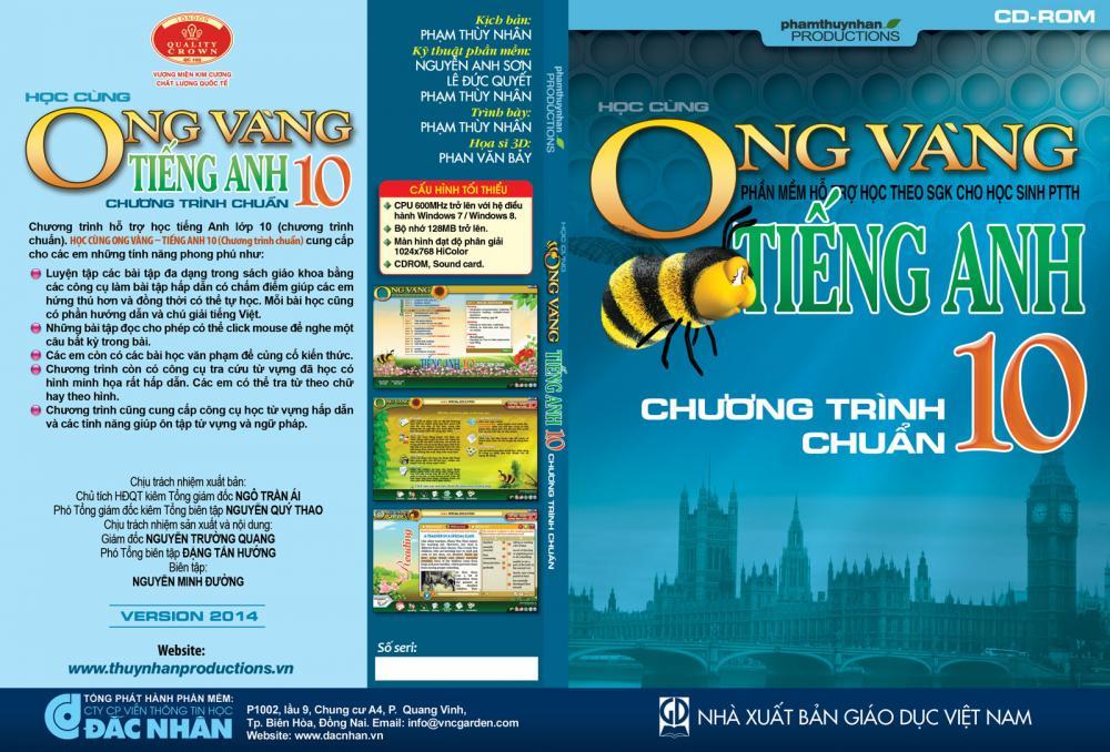 Phần mềm Ong Vàng - Tiếng Anh 10